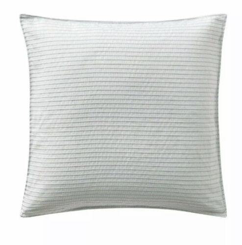 Highline Bedding Co. BELIZE Euro Sham 26.5 x 26.5 Pillow Sham Case Blue Haze NIP Bedding