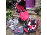 Britax Vigour 3+ buggy with Baby Safe car seat