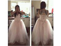 beautiful baby pink prom dress