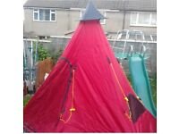 Tipi style tent from Aldi