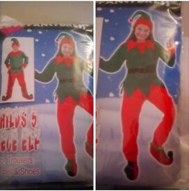 Brand New Kids Elf Fancy Dress Costume (5piece)