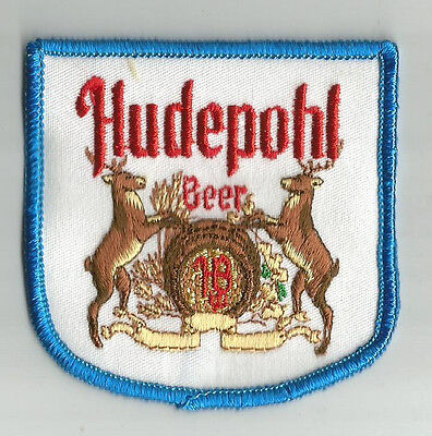 "Hudepohl  Beer Patch  3 1/8"" X3"""