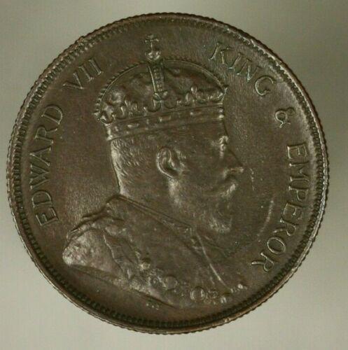 Straits Settlements Cent 1904  Brown AU/UNC  A1024