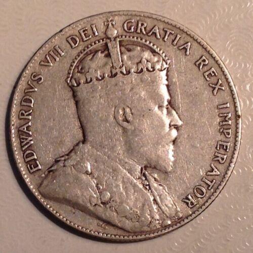 1909 Newfoundland Canada  Edward VII 50 Cents