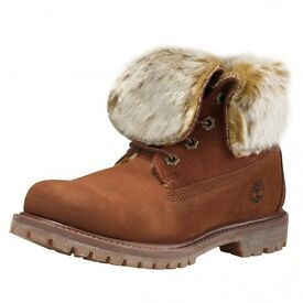 Timberland size 7 womens boots fur lined