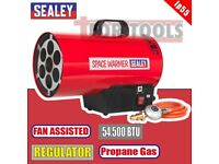 SEALEY TOOLS LP55 SPACE WARMER 54,500BTU/HR GAS BLOW HEATER