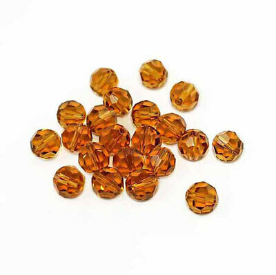 10 November Birthstone 8mm Beads Faceted Glass Topaz Color - BD455 ()