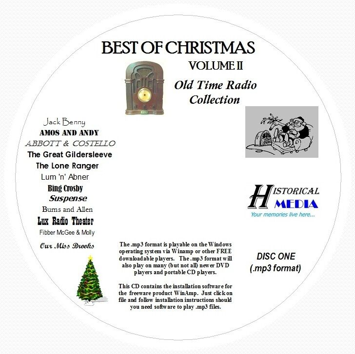 CHRISTMAS OLD TIME RADIO COLLECTION  - 124 Shows MP3 Format OTR 2 CDs