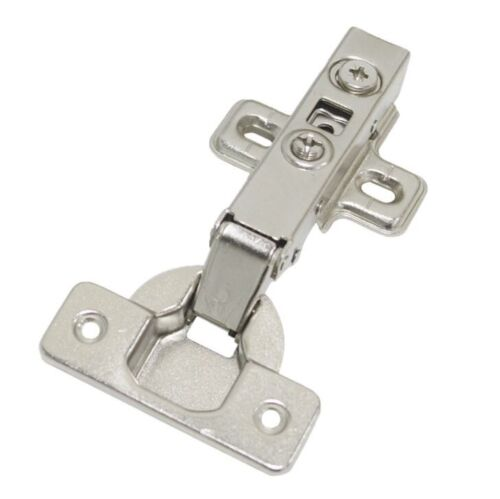 20 Pcs Soft Close Hinges 35mm Kitchen Cabinet Cupboard Flush Door Plate + Screws