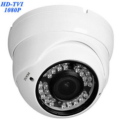 HD TVI 1080P Dome Camera 2.4MP HDTVI Sony CMOS, Varifocal 2.8-12mm LED ir 4 in 1