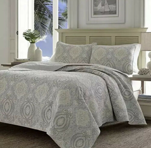 Tommy Bahama Turtle Cove Reversible Quilt Set, King,