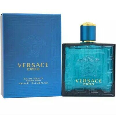 VERSACE EROS EAU DE TOILETTE SPRAY FOR MEN 3.4OZ