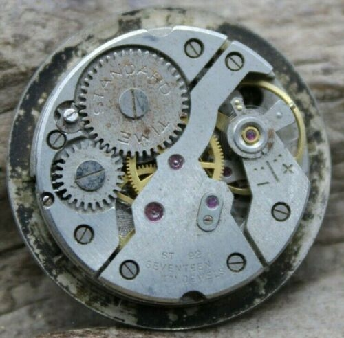 Mens Vantage / Standard Time MOVEMENT 17j ST 92 GOOD BALANCE 27.6mm DIAL (J2Q)