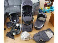 Mamas & papas sola2 MTX denim pushchair complete travel system