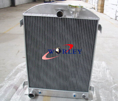 3 ROW 64mm All Aluminum Radiator for 1932 FORD CHOPPED FORD ENGINE 32