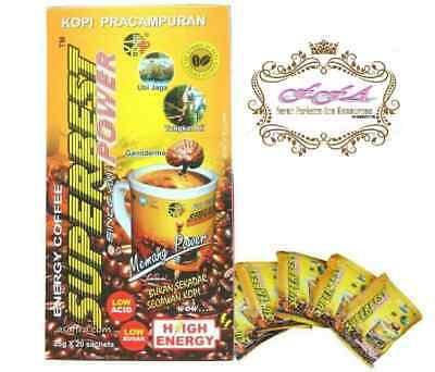 Super Best High Energy Power Coffee Natural Herbs Tongkat Ali Strongman (Best Herb Tongkat Ali)