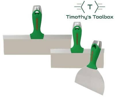 Usg Sheetrock Classic Stainless Steel Drywall Taping Knife Set 6-10-12