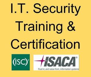 IT Security Training  ISC2 CISSP & CCSP and ISACA CISA CRISC CISM CGEIT certifications
