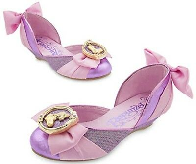 NEW Disney Store Tangled Princess Rapunzel Girls Costume Dress Up Slip On Shoes - Girls Disney Shoes