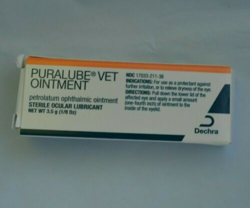 Dechra 3.5 gm Puralube Veterinary Pomade Eye Ointment for Dogs