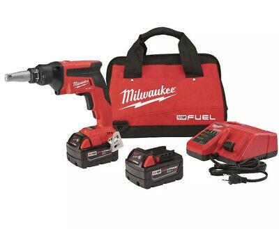 Milwaukee 2866-22 M18 Fuel Drywall Screw Gun Kit W 2x 5.0ah Battery - New