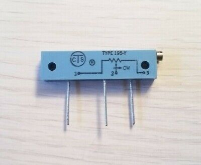 Lot Of 10 1k 1000 Ohm 20-turn 34 Watt Linear Multi-turn Trim Pot Cts 195y102