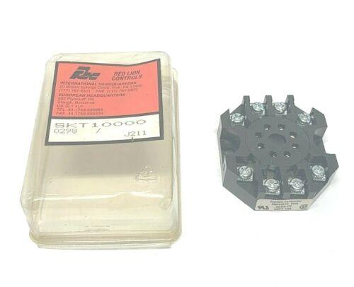 NEW RED LION SKT10000 RELAY SOCKET, RB08-PC, 600V 10A, NIB