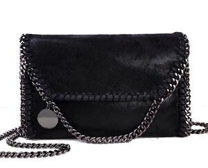 Stella McCartney Falabella Style Black Handbag Chain Shoulder Crossbody Bag New