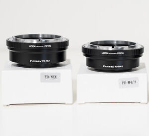 CAMERA LENS ADAPTERS Canon/Konica/Minolta+ to Sony/Oly/Pan