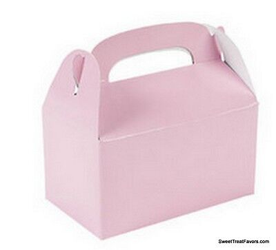 SOFT PINK BABY Party Supplies BOXES Birthday Decoration GABLE Loots x12 Bag - Pink Gable Boxes