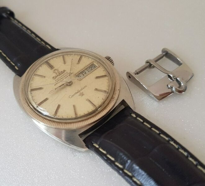 Rare Omega Watch Buckle, Omega Watch Company, Swiss Made, 18mm Omega Buckle, Stainless Steel