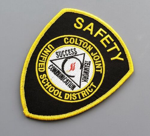Colton Joint Unified School District Campus Safety Patch ++ SBD County CA