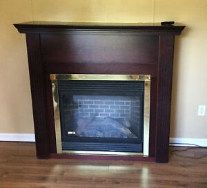 CONTINENTAL PROPANE FIREPLACE WITH MANTEL, MUST GO!