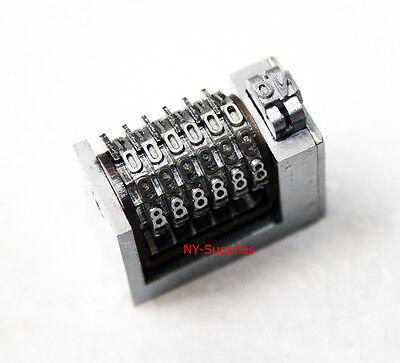 3mm Letterpress Numbering Machine 6 Digits Cicero Heidelberg Windmill Kluge