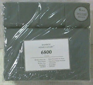 New Quality Luxury Queen Size 6 Piece Bed Sheet Set