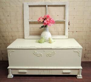 Beautiful shabby chic antique 1930's cedar chest