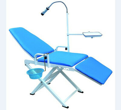 Dental Portable Folding Chair With Operation Light Instrument Tray Cuspidor