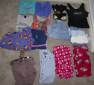 14-piece clothing lot, girls' 7-8 $ 15, 16-piece lot, 10-12 $ 15