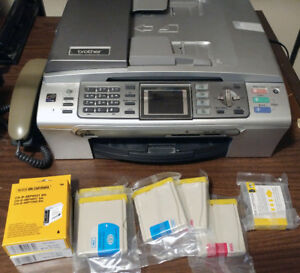 Printer, Brother MFC-665CW excellent photos + ink  $35
