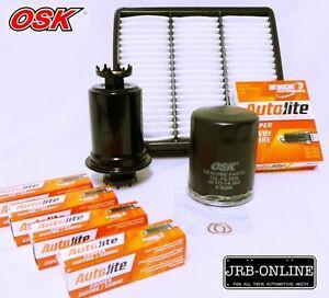 LANCER CE 4G15 1.5 4G93 1.8  OIL AIR FUEL FILTER SERVICE KIT+SPARK PLUGS 96 - 04