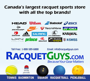 Largest selection of racquet sports equipment in Canada