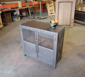 2 inch Slab and Steel Coffee table w/ Pull out Crate Shelf London Ontario image 10
