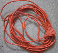 Woods Orange Heavy Duty Extension cord with 3 outlet Fantail