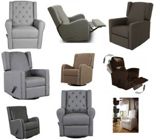 Kidiway Glider Swivel Recliner Fabric Leather