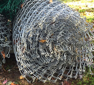 200 feet of Galvanized chain link fencing 5 feet in height