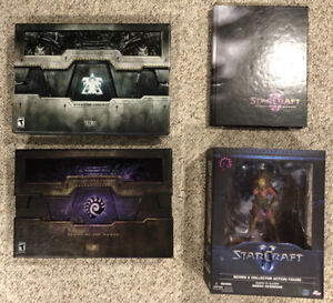 Starcraft 2 Collectors Editions and Figure