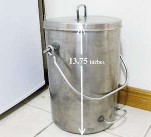 Vintage Stainless Steel Milk Can / Dairy Cream Pail