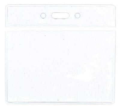 Horizontal Badge X12 Id Card Holder Vinyl Clear Brand New Nib