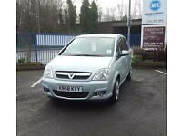 Vauxhall Meriva 1.4i Petrol 2008 Hatchback In Light Green