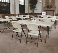 TABLES AND CHAIRS RENTALS. CHEAPEST IN TOWN